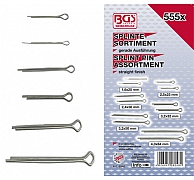 Assortiment splitpennen 1,6-4mm, 555dlg, BGS 8048